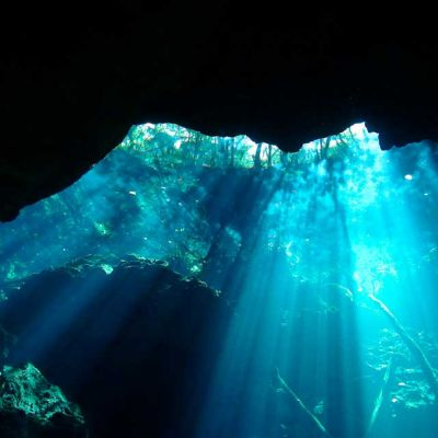 Cenote pic from underwater
