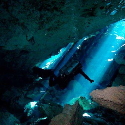 Cenote Diving near Tulum, Akumal